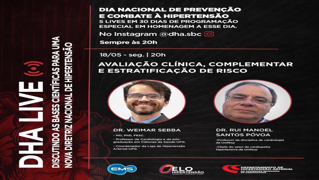 DHA Live: Avaliação clínica, complementar e estratificação de risco no paciente hipertenso